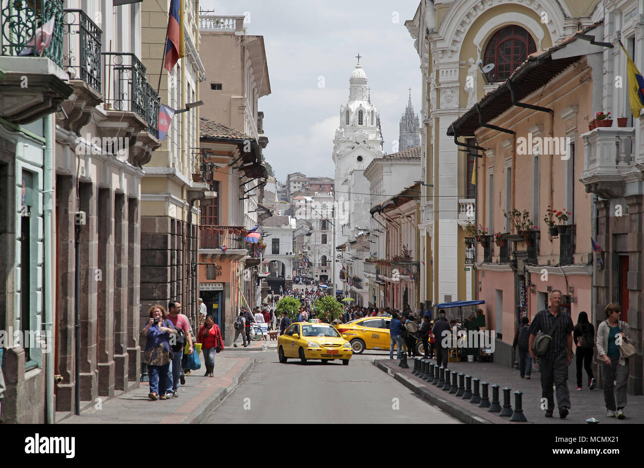 Venezuela Avenue in Quito Ecuador - Stock Image
