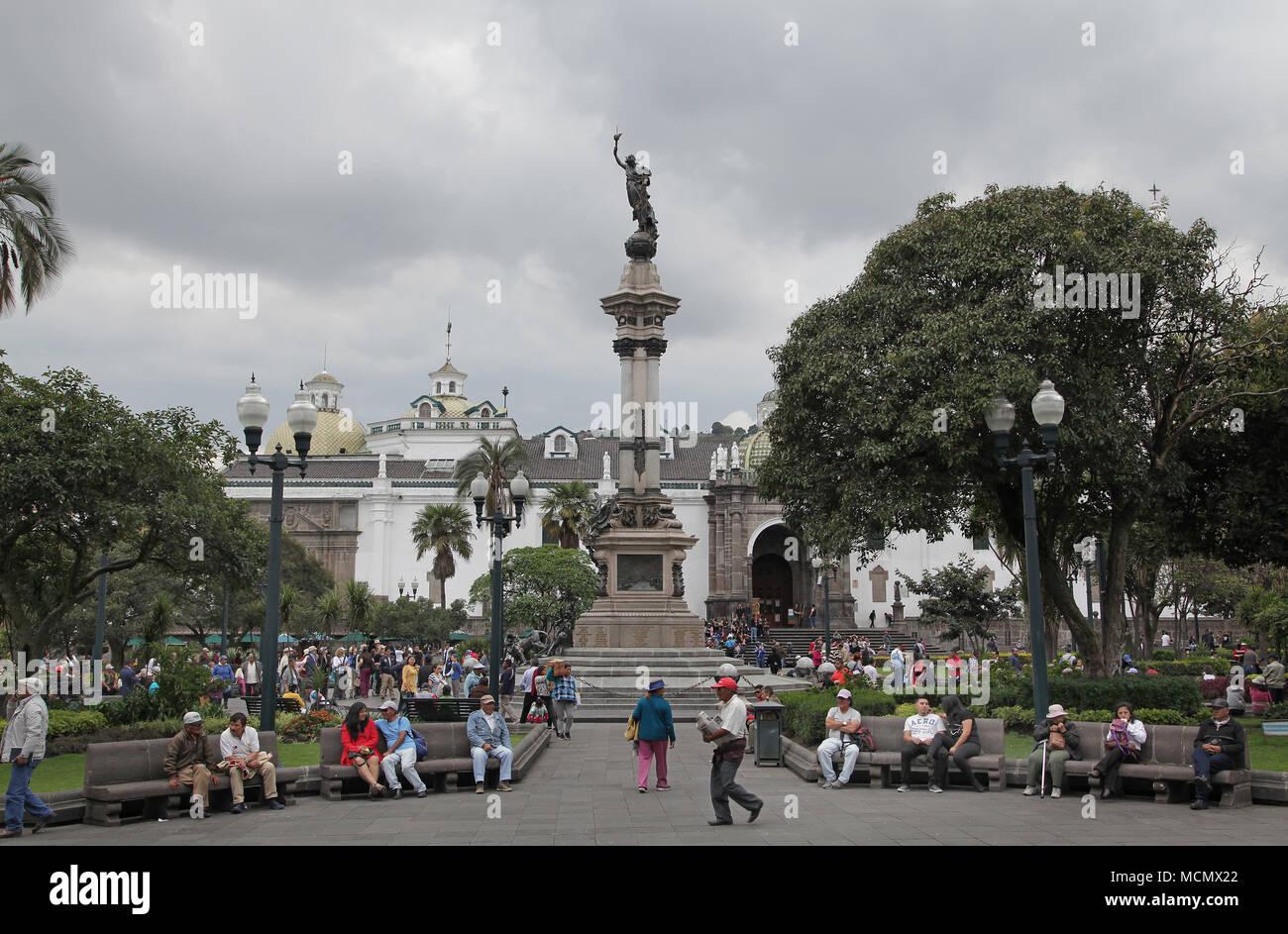 Plaza Grande Quito Ecuador - Stock Image