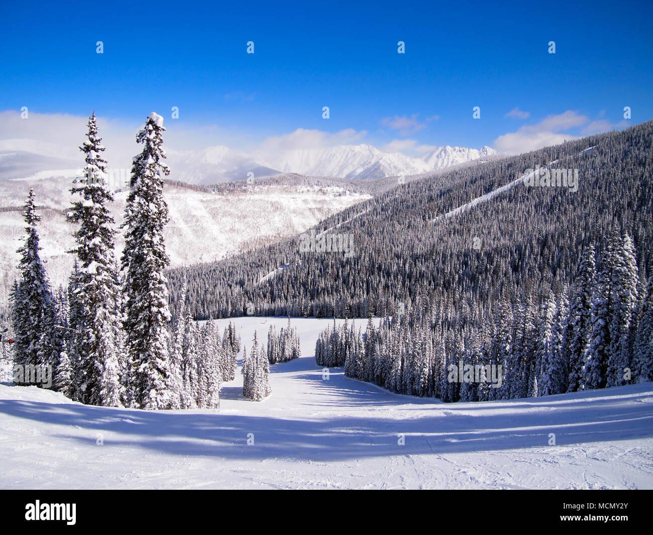 Vail, Colorado; ski resort - Stock Image
