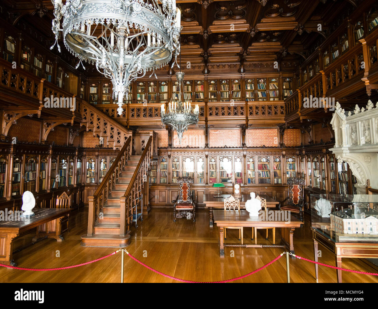 St. Petersburg, Russia: Winter Palace interior, Hermitage Academic Library - Stock Image