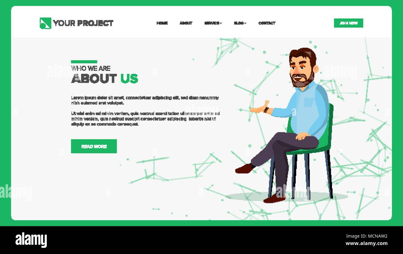 Web Page Design Vector Business Style Front End Site Scheme