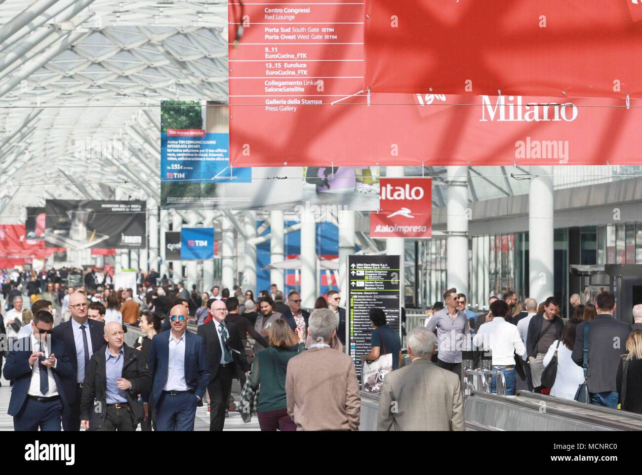 Milan, Italy. 17th April 2018. INAUGURATION OF THE SALONE DEL MOBILE ...