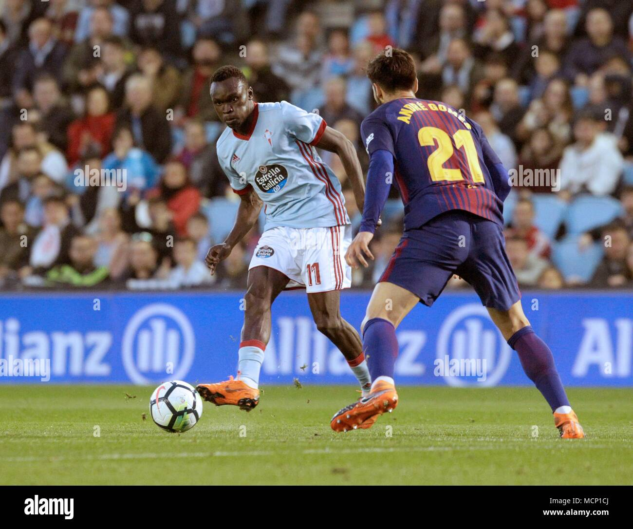 Barcelona Vs Celta Vigo In Youtube: Pione Sisto Stock Photos & Pione Sisto Stock Images