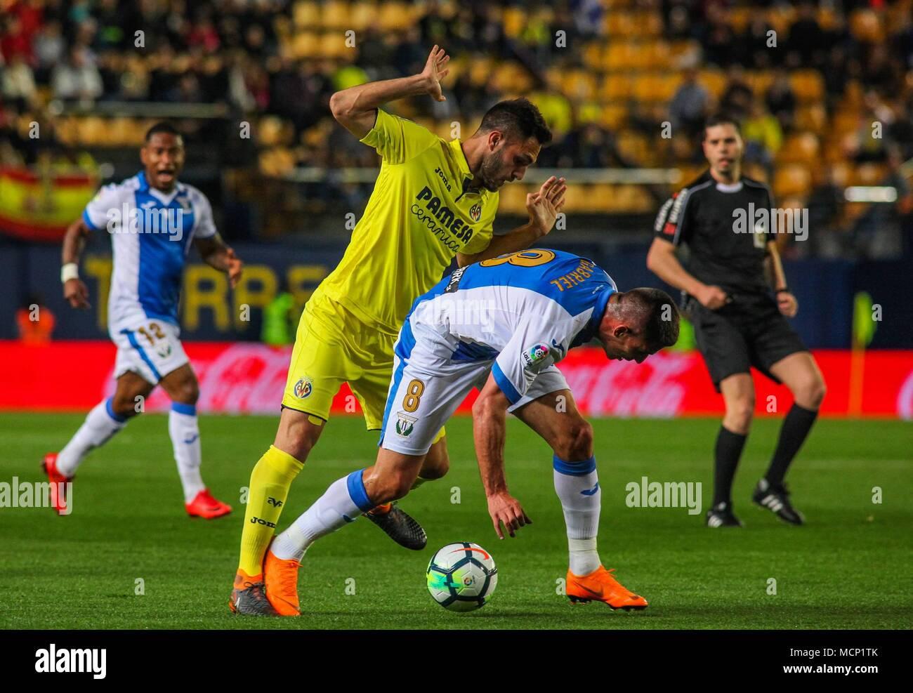 20739d7b428 Victor Ruiz and Gabriel during the match between Villarreal CF and CD  Leganes at the Estadio