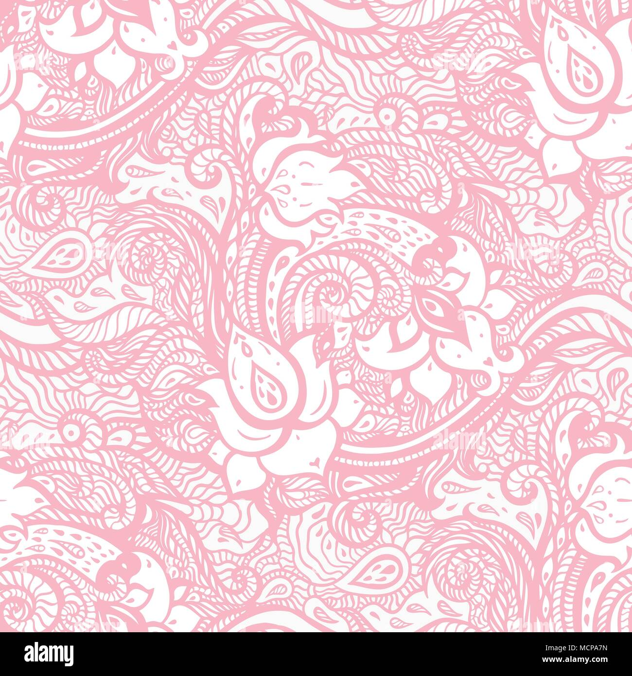 Vintage Floral Pink Background Beautiful Elegant Ethnic Hand
