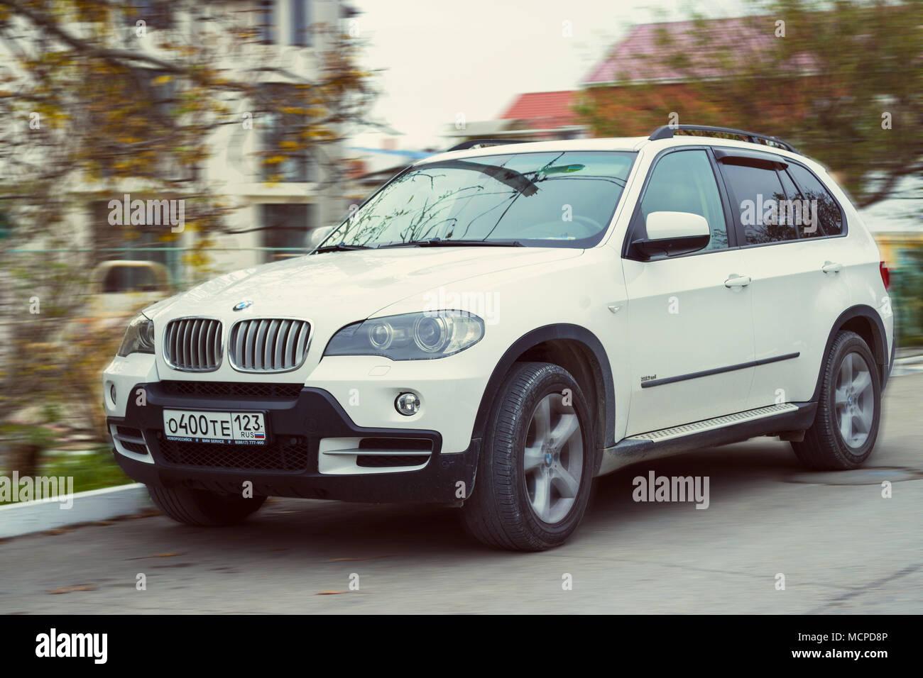 Sochi, Russia - November 10, 2017: New luxury BMW x5 on the street. - Stock Image