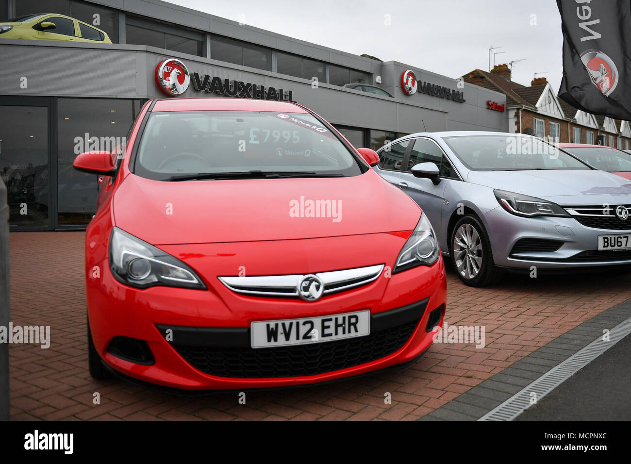 Dealerships That Buy Cars >> A General View Of Vauxhall Forecourt After The Company
