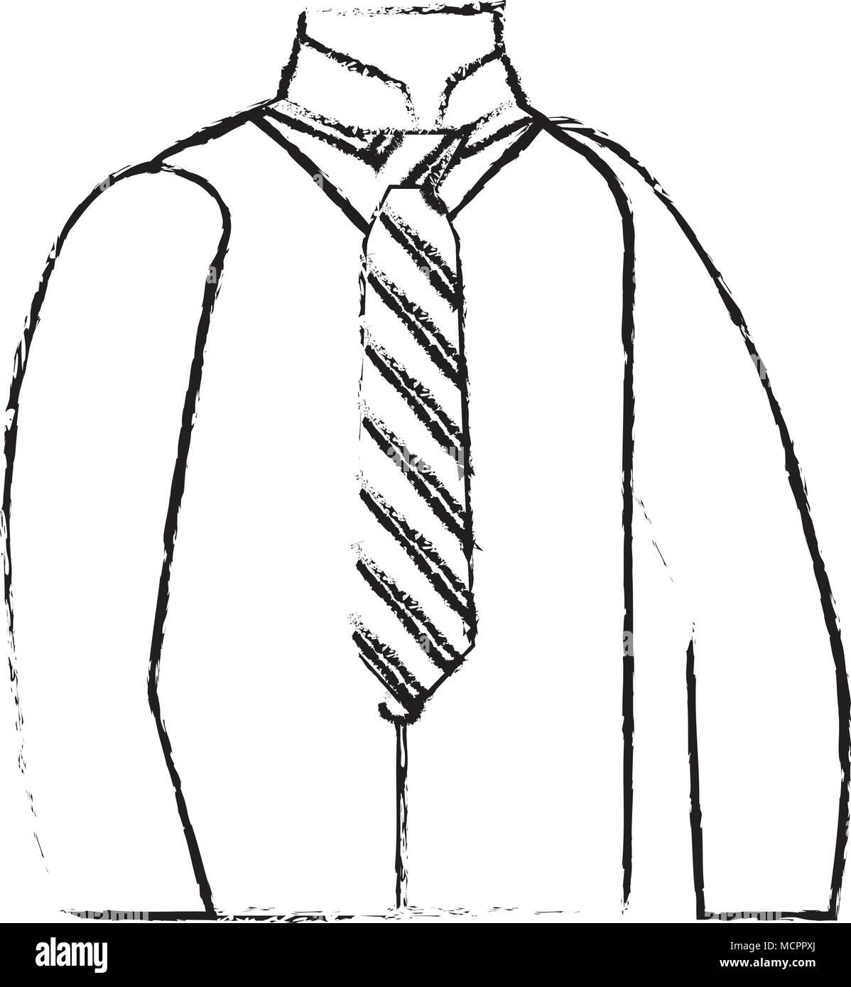 men clothes vest necktie and shirt elegance - Stock Image