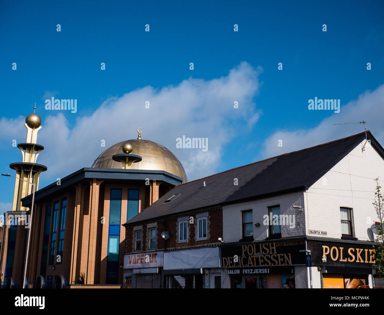 Polish Food shop and, Mosk Tilehurst, Reading, Berkshire, Reading, UK, GB. - Stock Image