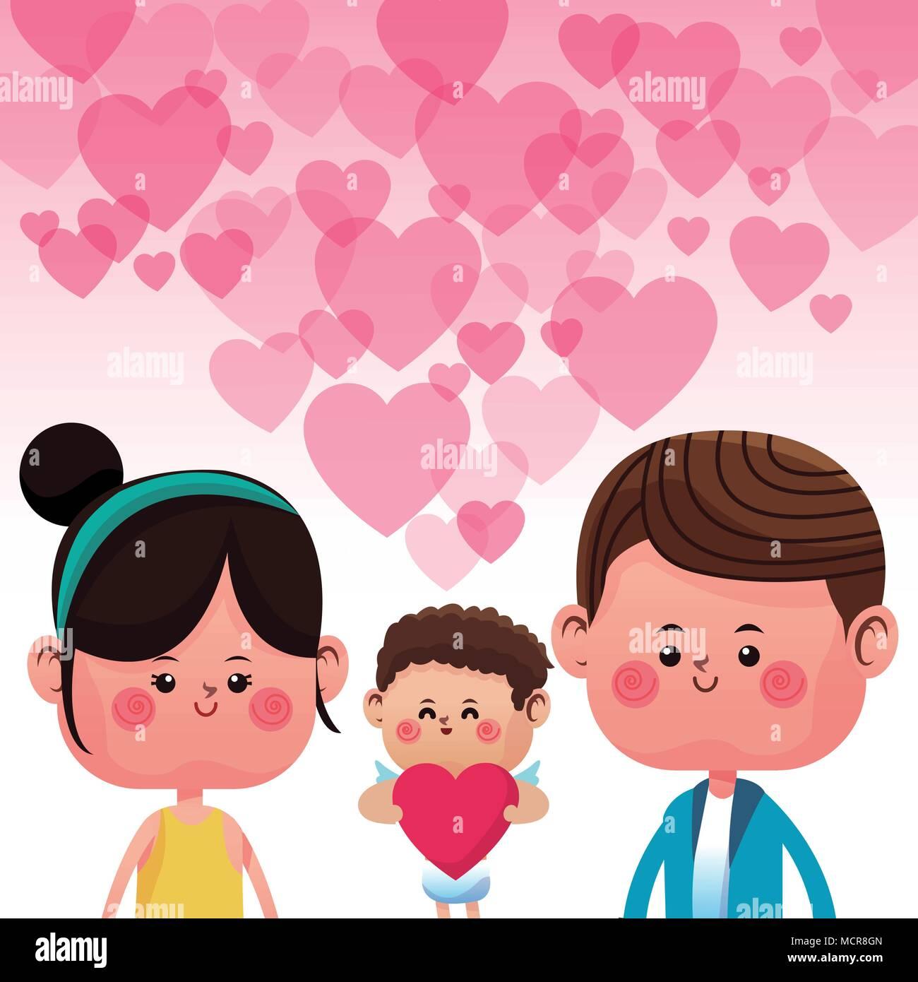 Cute Couple In Love Cartoons Stock Vector Art Illustration Vector