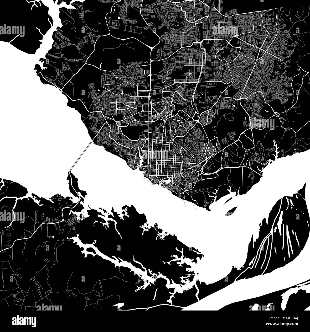 Area map of manaus brazil dark background version for infographic area map of manaus brazil dark background version for infographic and marketing projects this map of manaus amazonas contains typical landmarks gumiabroncs Images