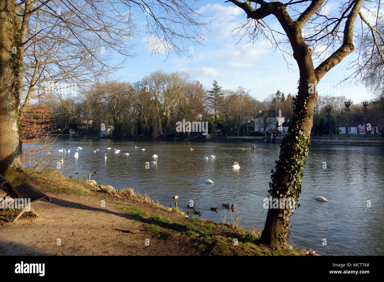 The Loiret River near Olivet, south of Orleans in France - Stock Image