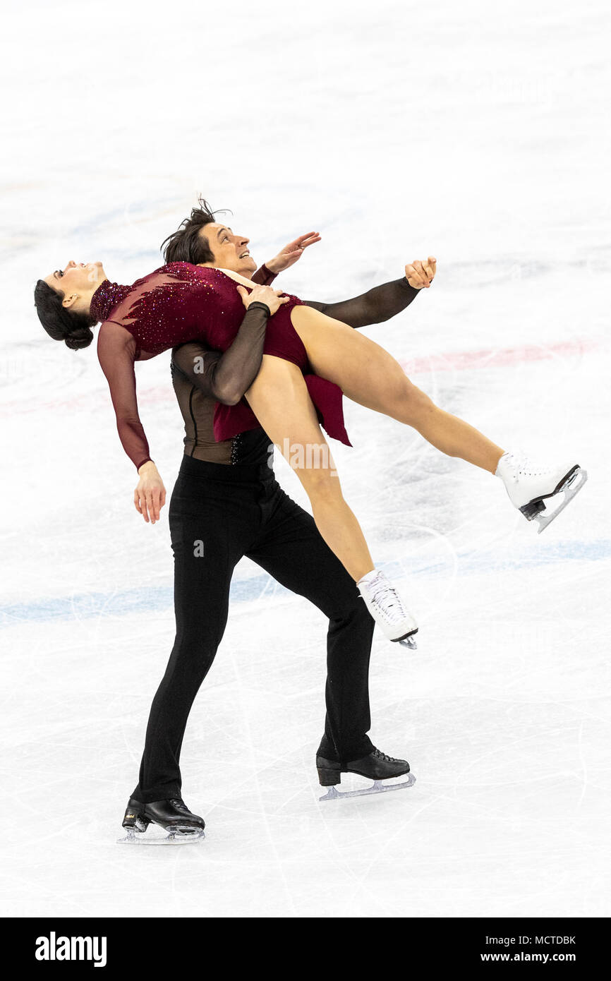 Tessa Virtue/ Scott Moir (CAN) win the gold medal in Figure Skating Ice Dance at the Olympic Winter Games PyeongChang 2018 - Stock Image