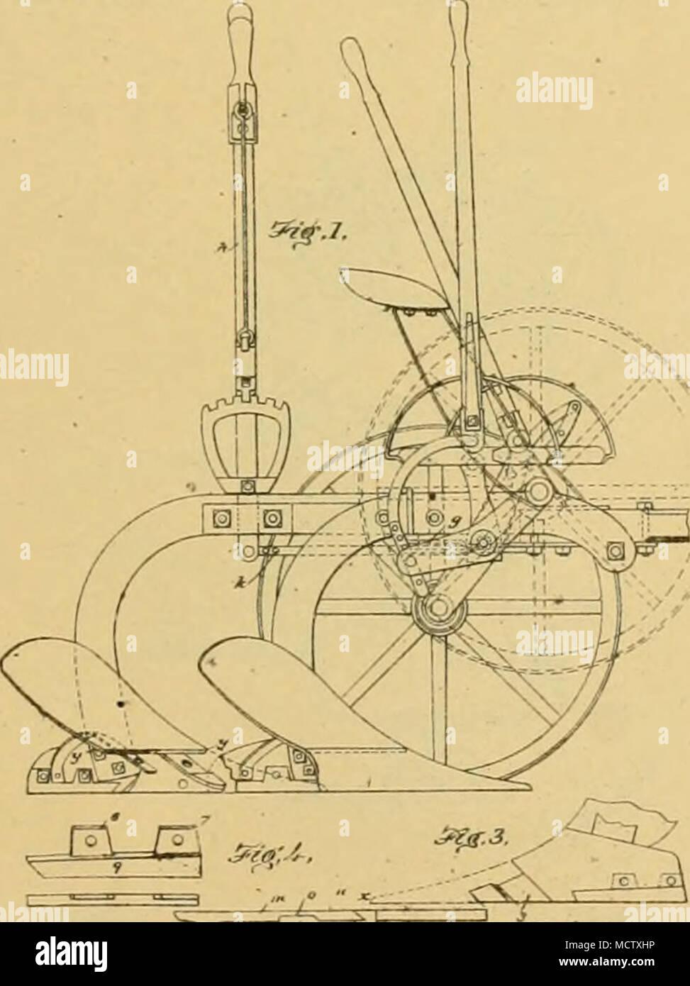 . ( lo«sl.) 1 8b.eu-8b.flt 2 P. i, HILL. Side Hill Plow. No. 242,320. Patented May 31, 1681. - Stock Image