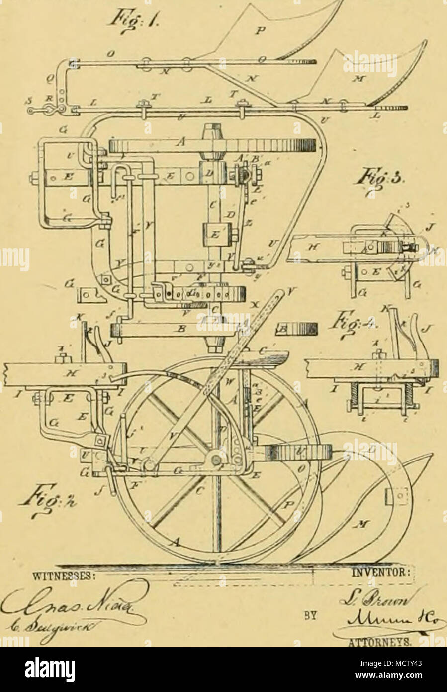 . t- M, FOSTER Snlky-Plow No. 226,739. Patented April 20. 1830. - Stock Image