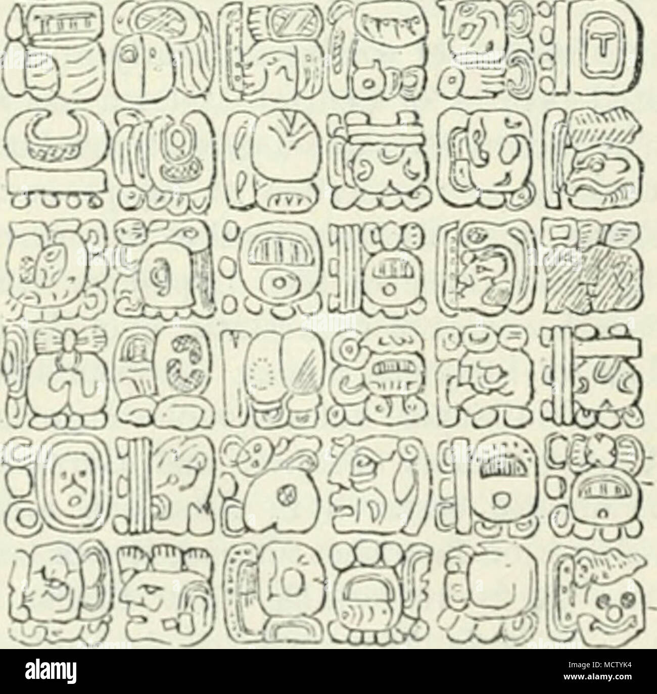 Tablet of Maya writing from a temple at Palenque  place a higher