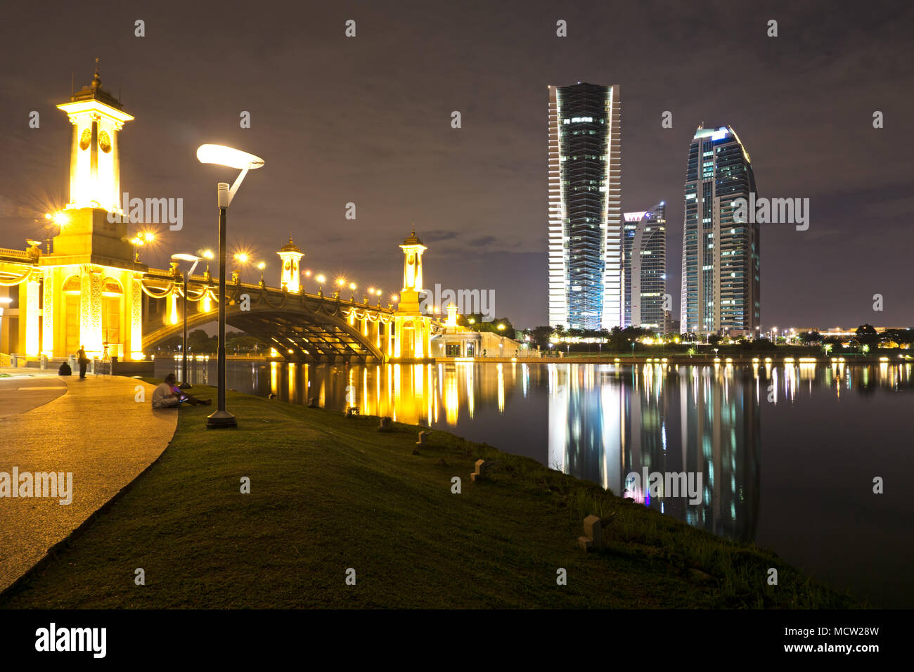 Putrajaya night view, Federal territory of Malaysia. - Stock Image