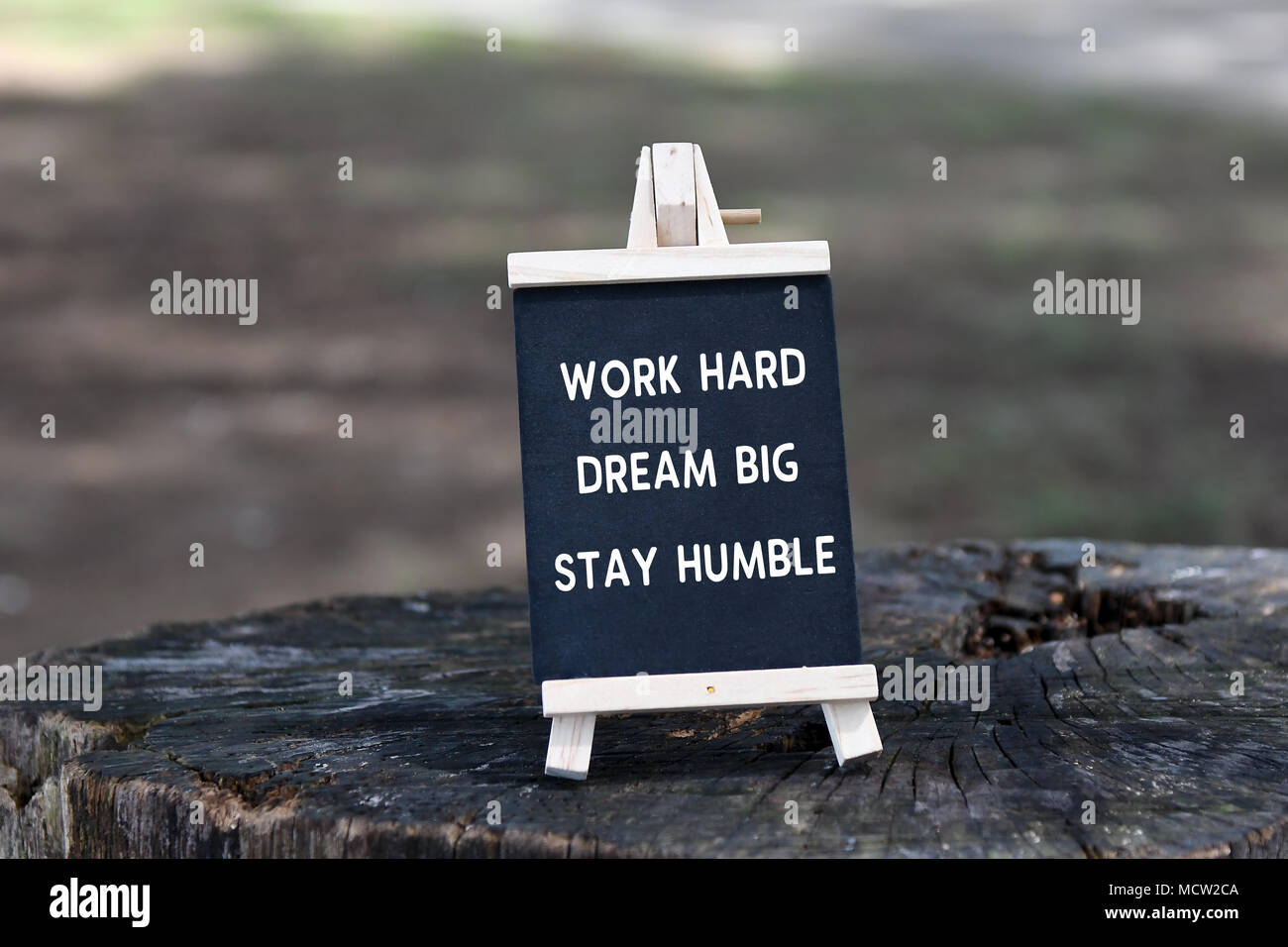 Inspirational Quote Work Hard Dream Big Stay Humble On Black
