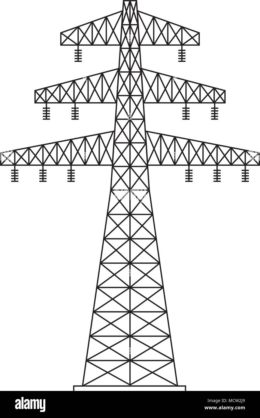 Electrical Tower Stock Vector Images - Alamy