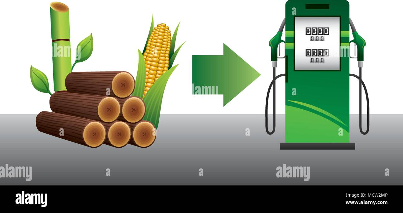 energy fuel pump with ecology options - Stock Image