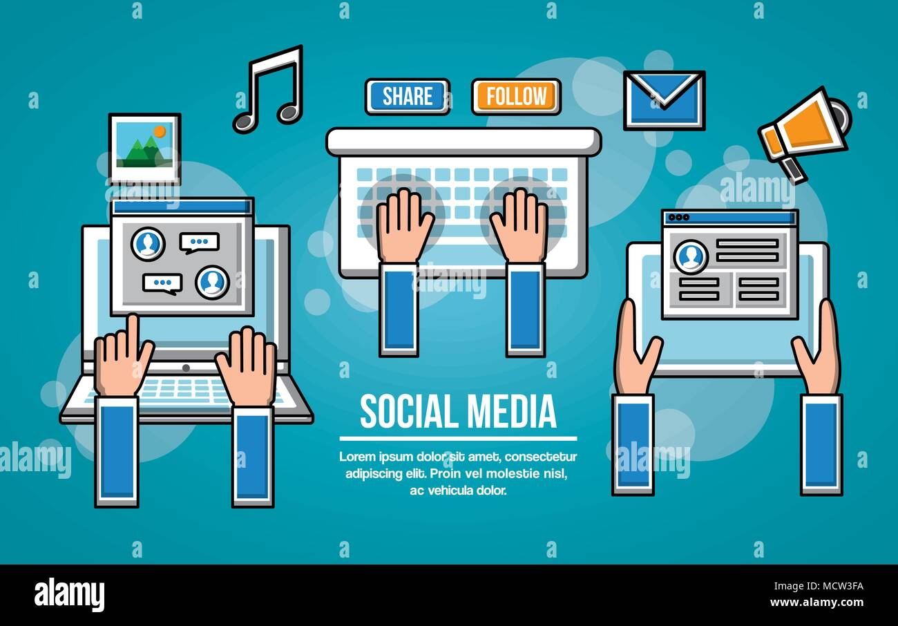 people social media networks - Stock Image