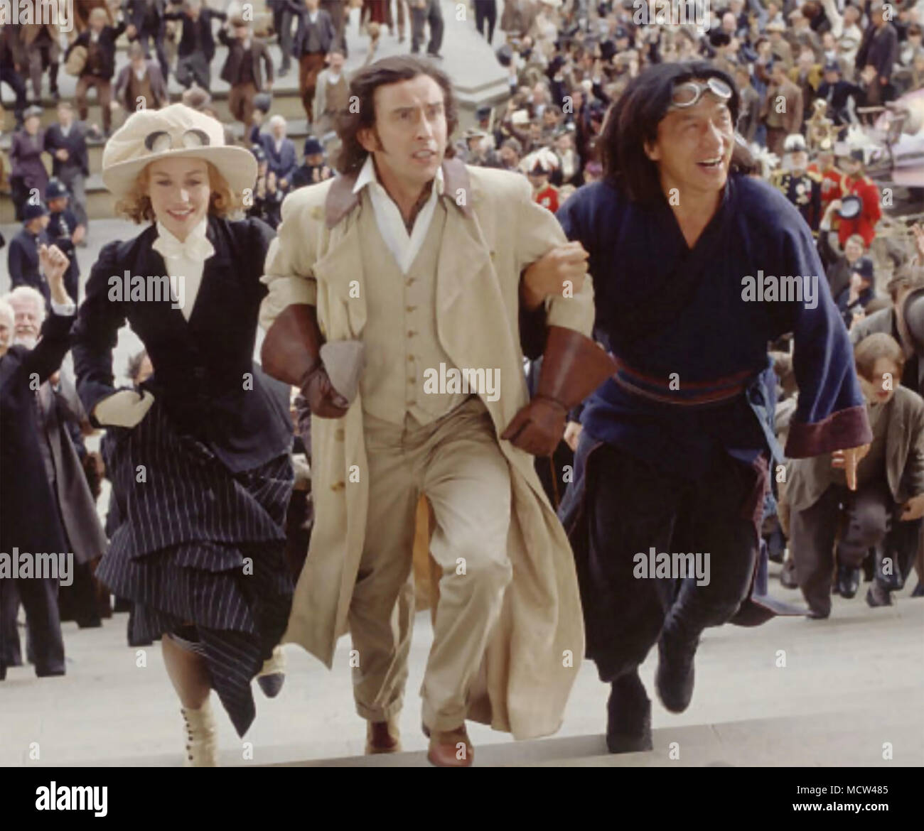 AROUND THE WORLD IN 80 DAYS 2004  Buena Vista film with from left: Cecile de France, Steve Coogan, Jackie Chan - Stock Image