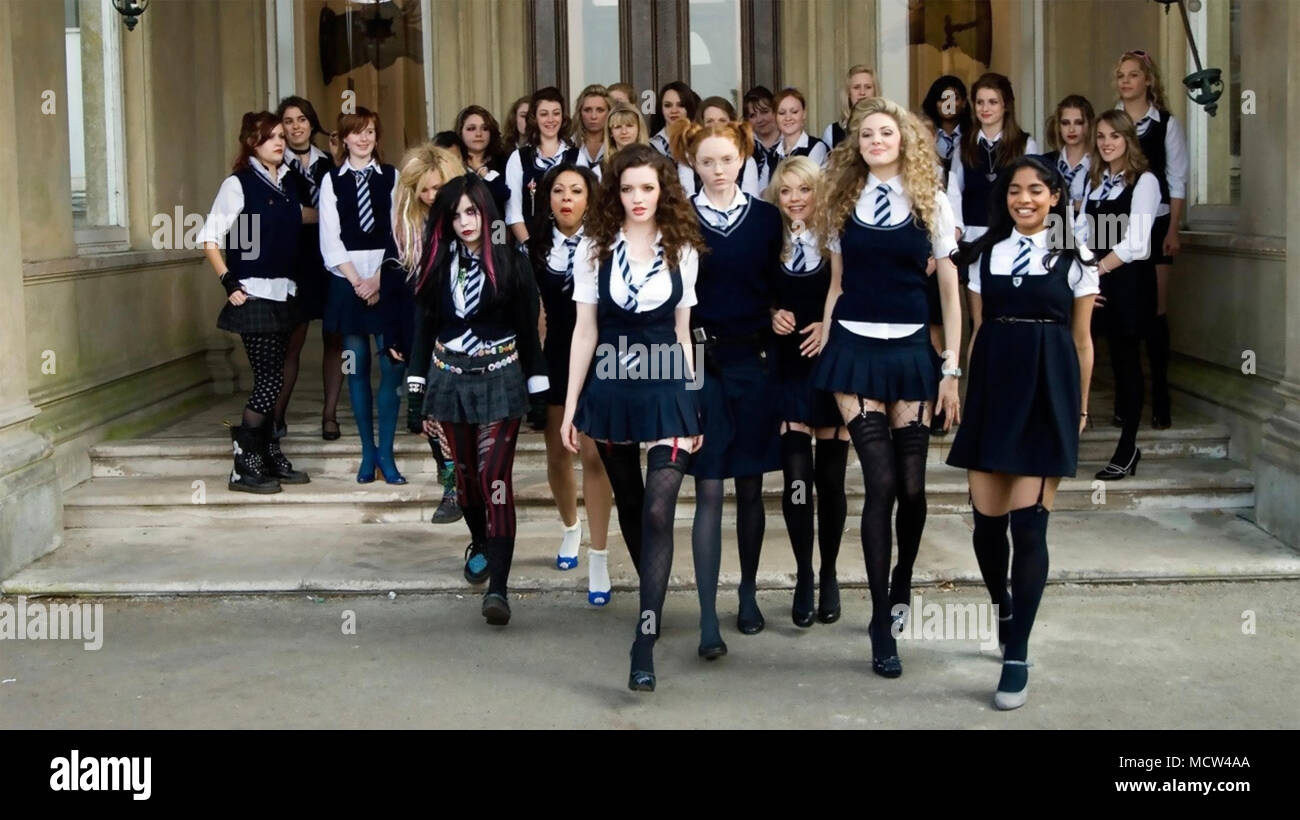 ST TRINIAN'S 2: THE LEGEND OF FRITTON'S GOLD 2009 Aegis Film Fund production with Sarah Harding front left - Stock Image