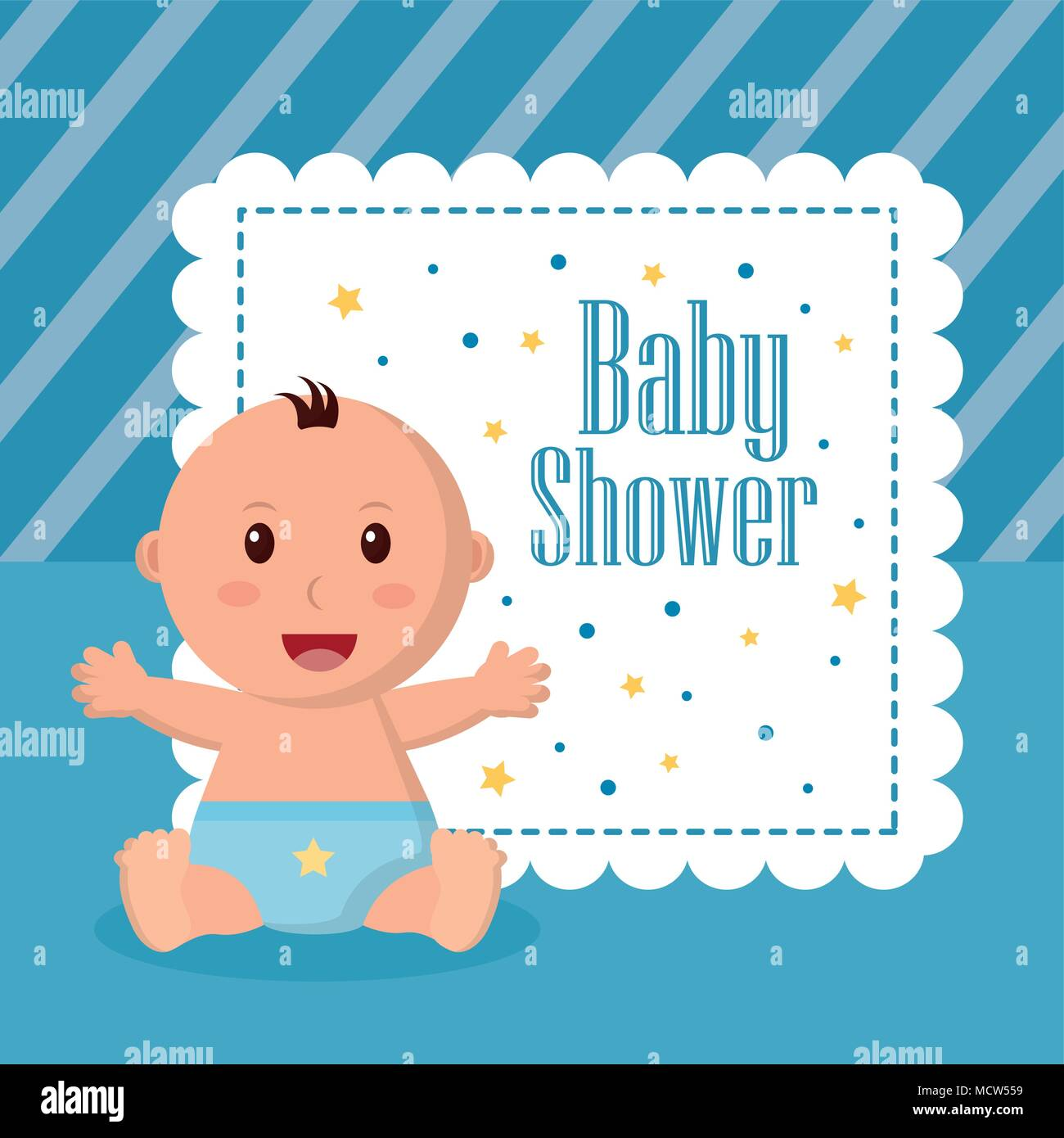 baby shower boy and girl Stock Vector