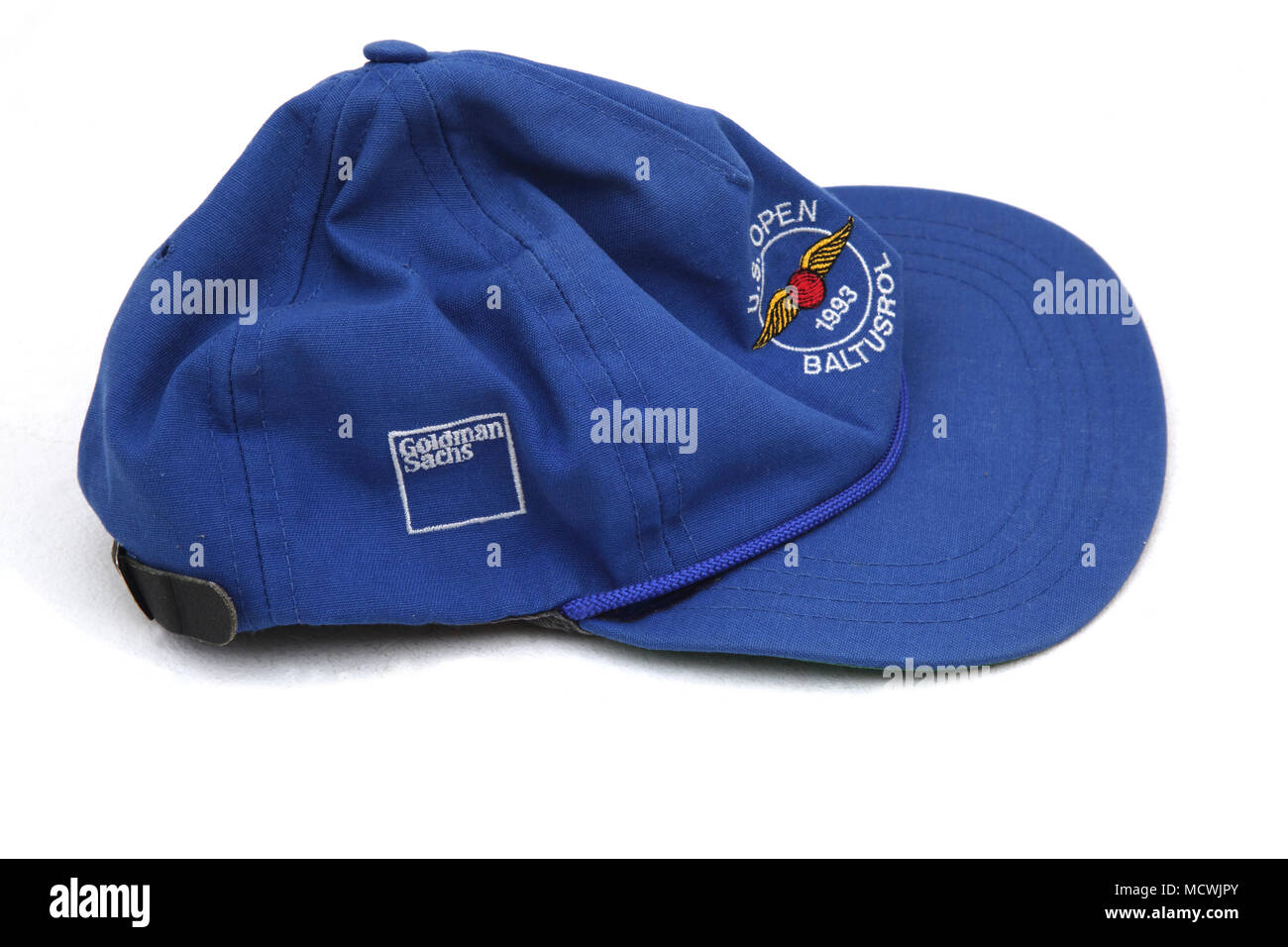 Blue Golf Cap U.S Open 1993 Baltusrol Goldman Sachs - Stock Image