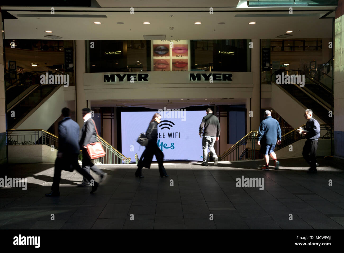 de105ee57fb pitt street central business district sydney new south wales australia -  Stock Image