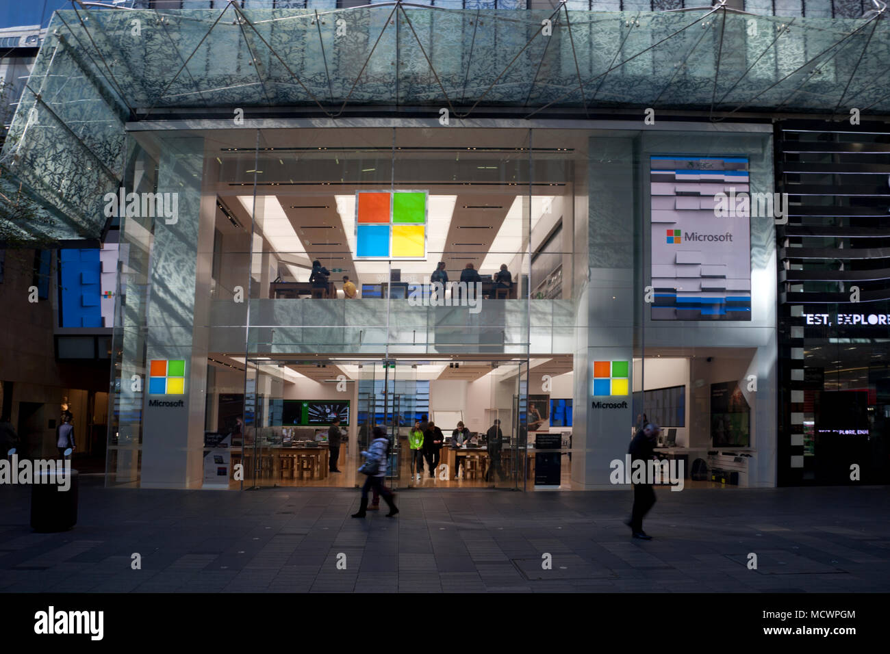 2385092febf microsoft pitt street central business district sydney new south wales  australia - Stock Image