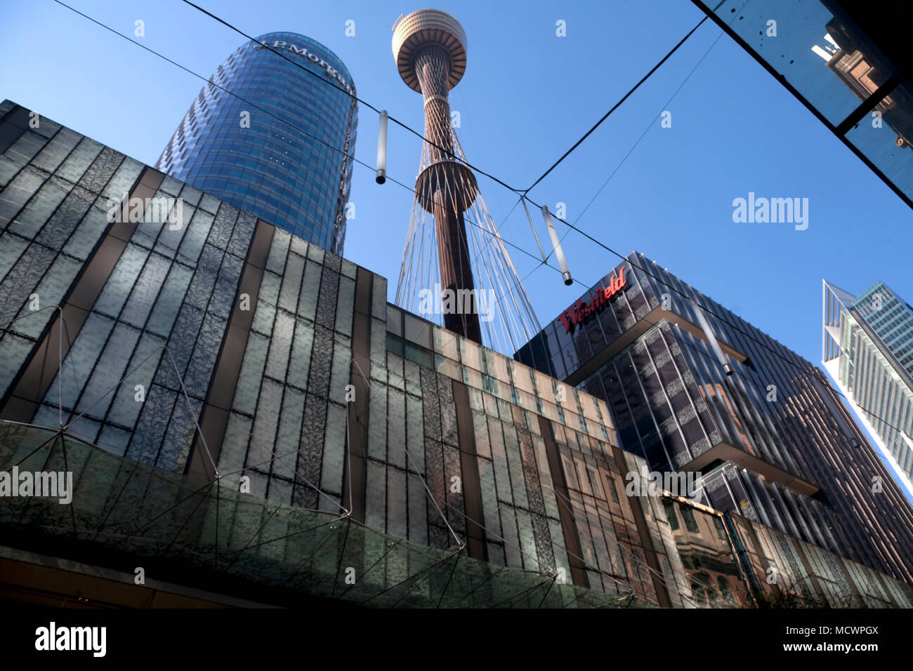 a6b3046af81 sydney tower pitt street central business district sydney new south wales  australia - Stock Image