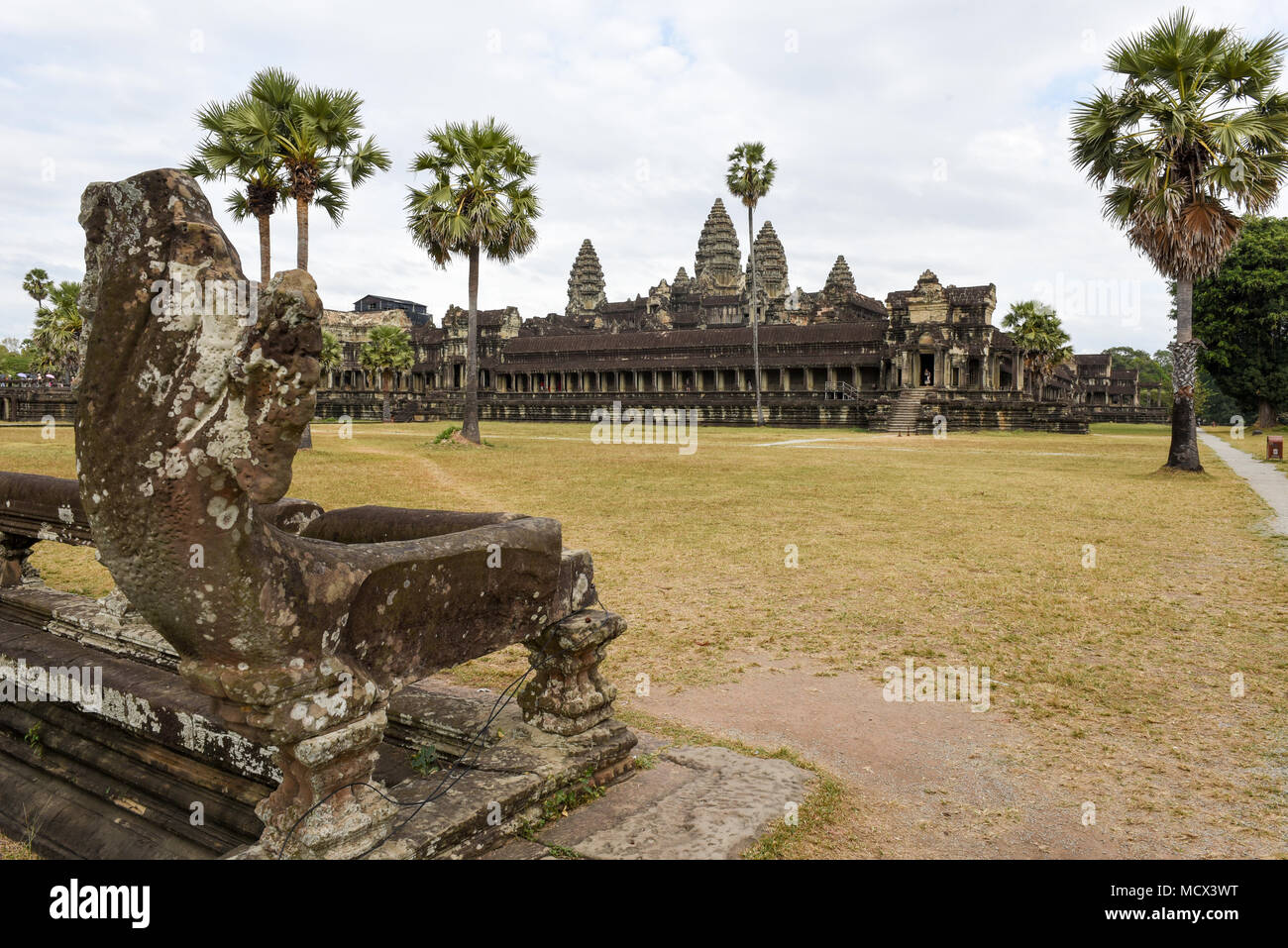 Angkor Wat temple at Siem Reap in Cambodia. - Stock Image