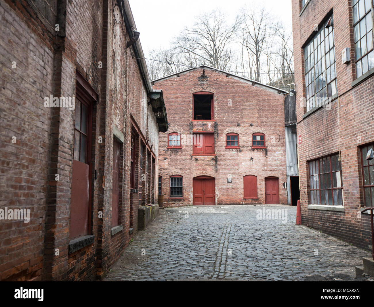 Old factories in the historic district of Patterson, NJ - Stock Image