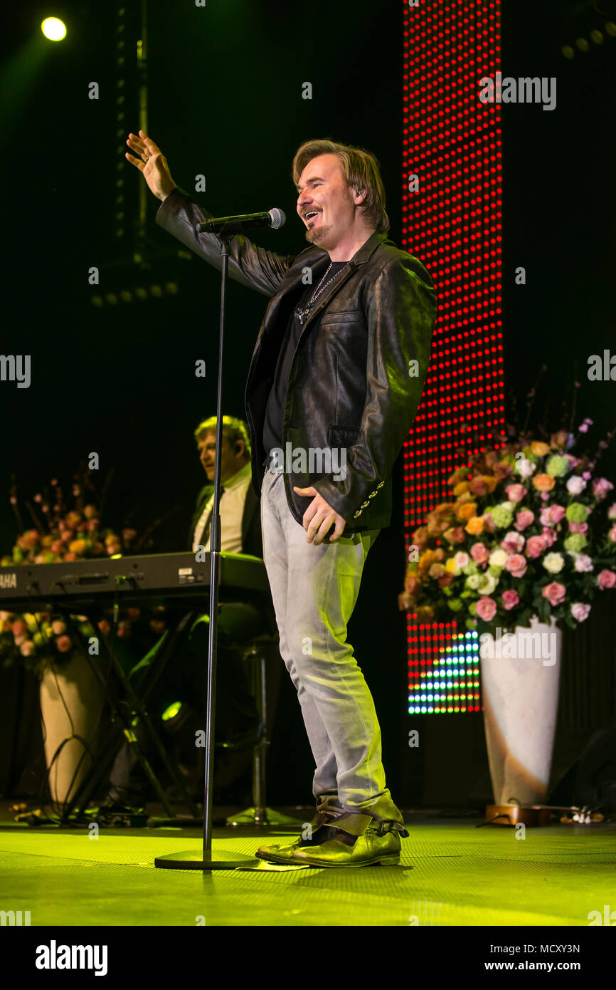 The Austrian pop singer Nik P. live at the 16th Schlager Nacht in Lucerne, Switzerland - Stock Image