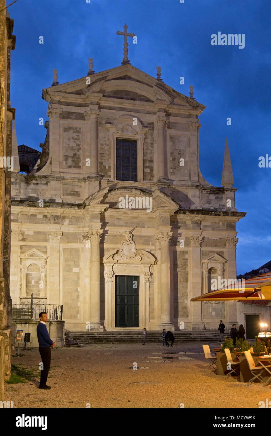 Jesuit Church, old town, Dubrovnik, Croatia - Stock Image