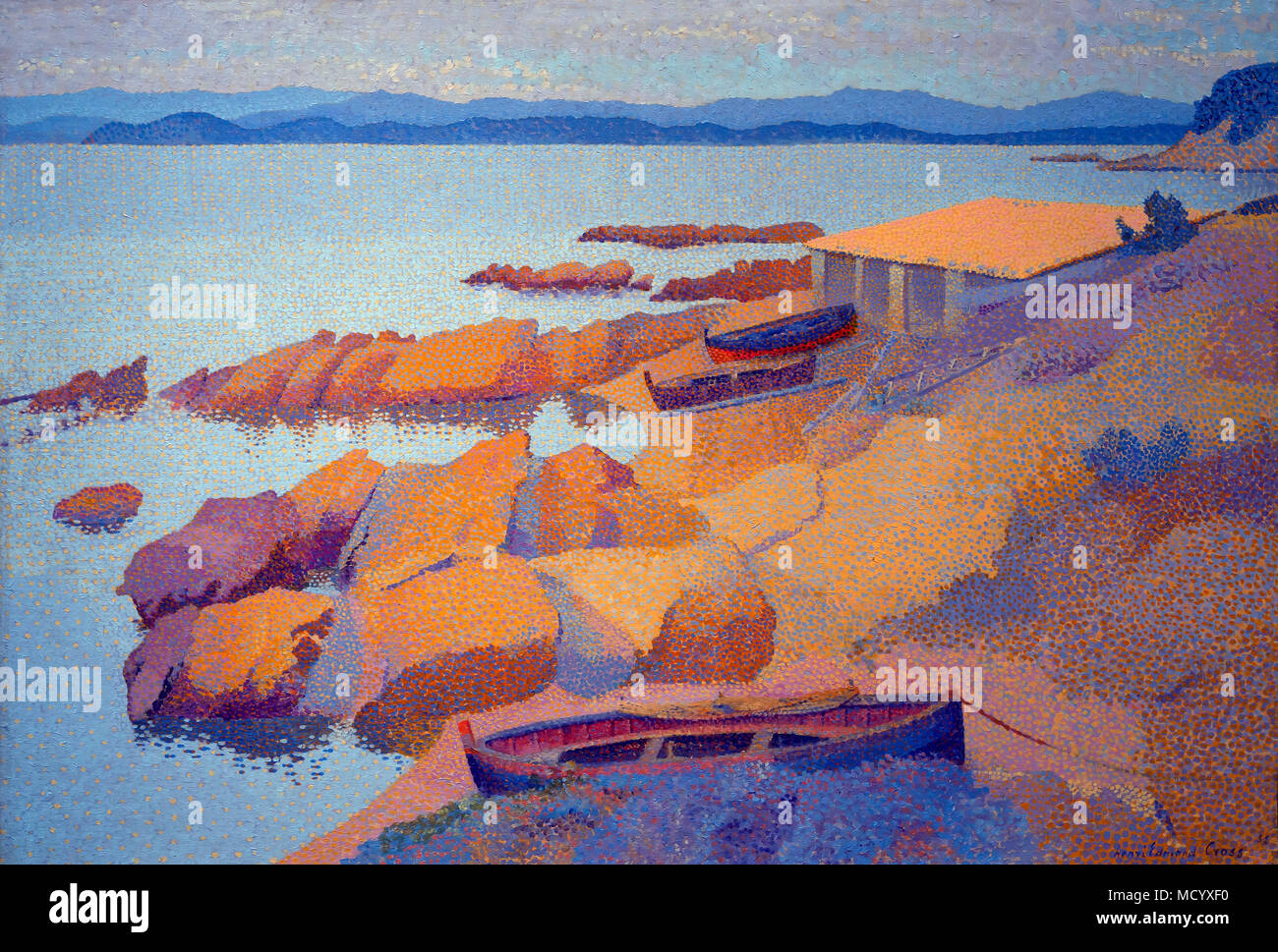 Coast Near Antibes, Henri Edmond Cross, 1891,National Gallery of Art, Washington DC, USA, North America - Stock Image