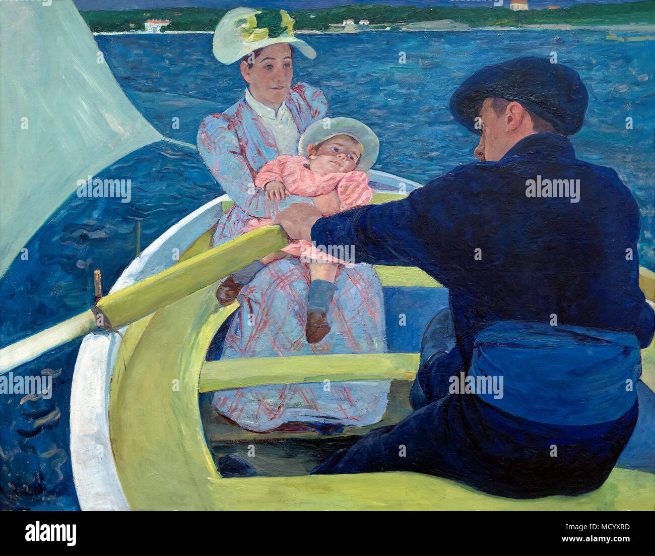 The Boating Party, Mary Cassatt, 1893-1894, National Gallery of Art, Washington DC, USA, North America - Stock Image