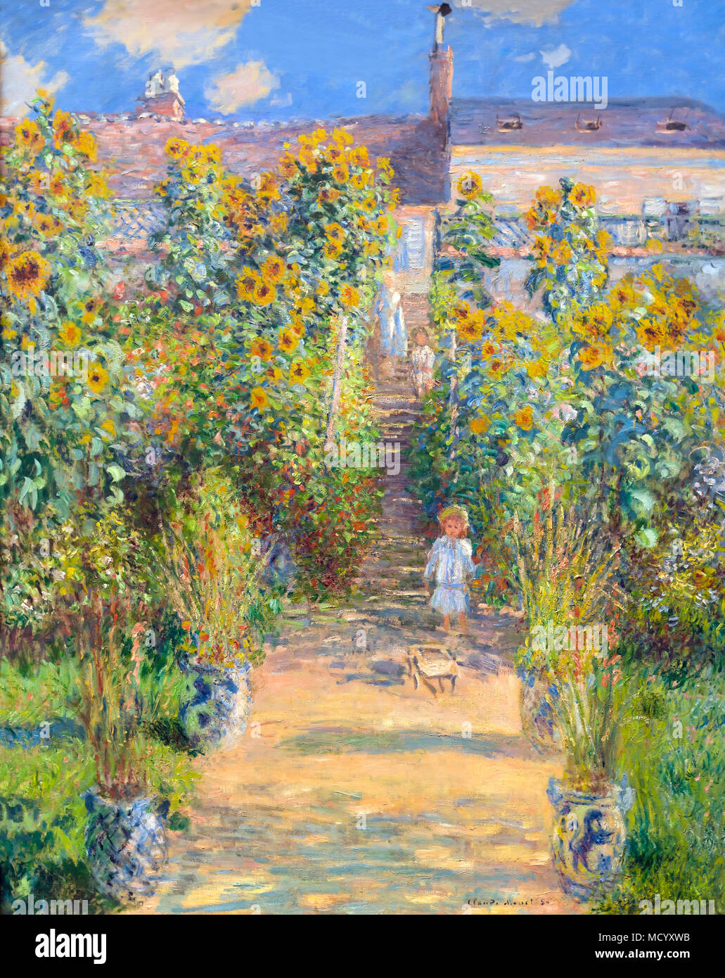 Delicieux The Artistu0027s Garden At Vetheuil, Claude Monet, 1880, National Gallery Of  Art, Washington DC, USA, North America