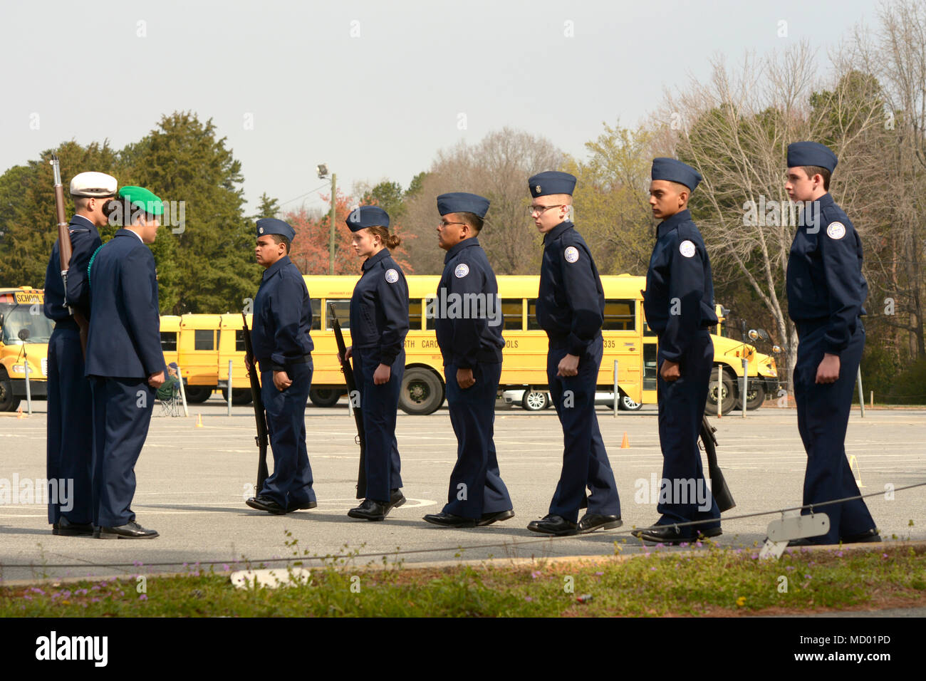 Us Air Force Junior Reserve Officers Training Corps Cadets From