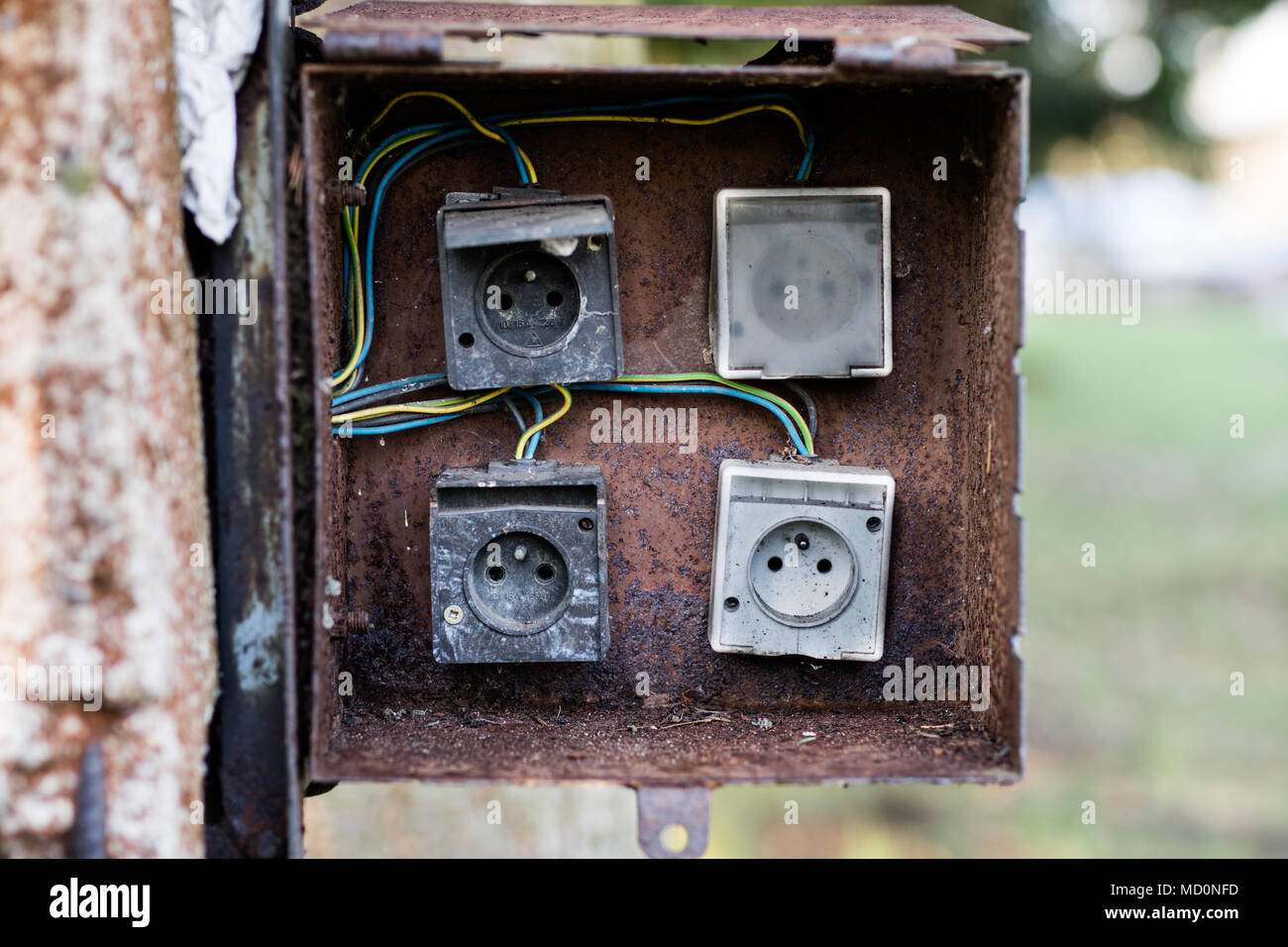 Old Fuses Fuse Box Stock Photos Images Glass And Electrical Used For Installations Space Wires Electric Season Of