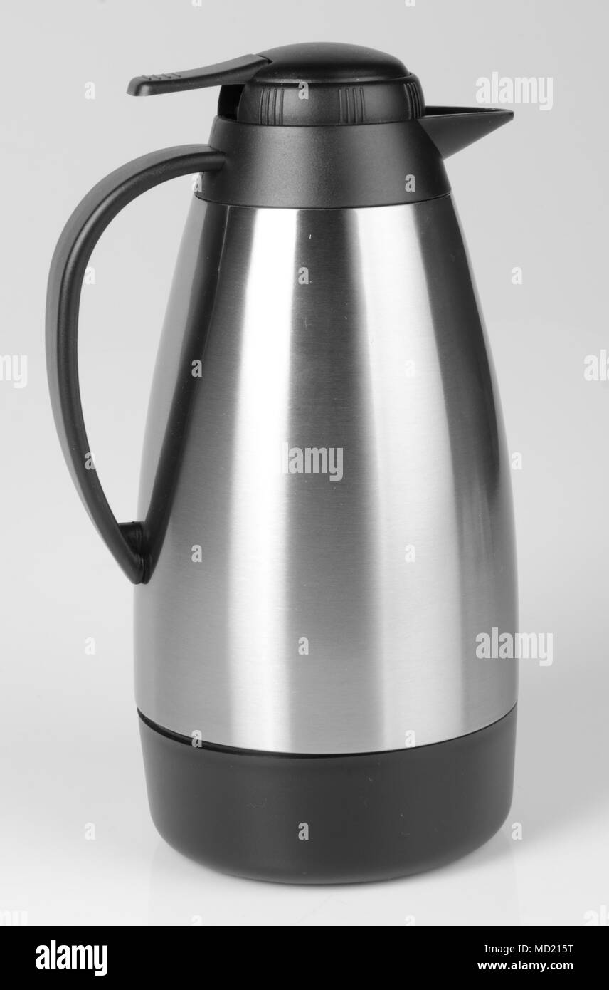 Thermo flask on the background. - Stock Image