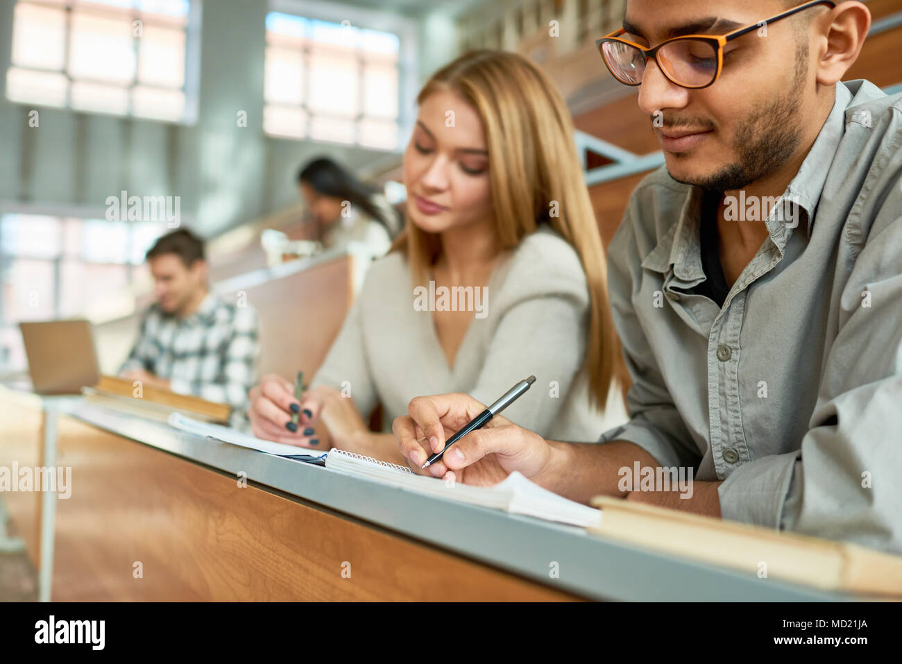 Students at Lecture in University - Stock Image