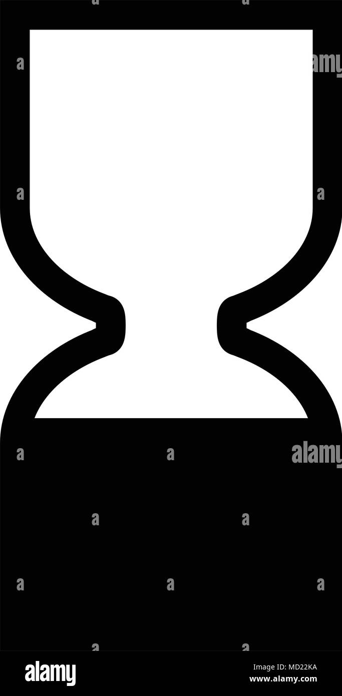Cosmetics products Best Before End Of Date BBE symbol. Black hourglass icon. - Stock Image