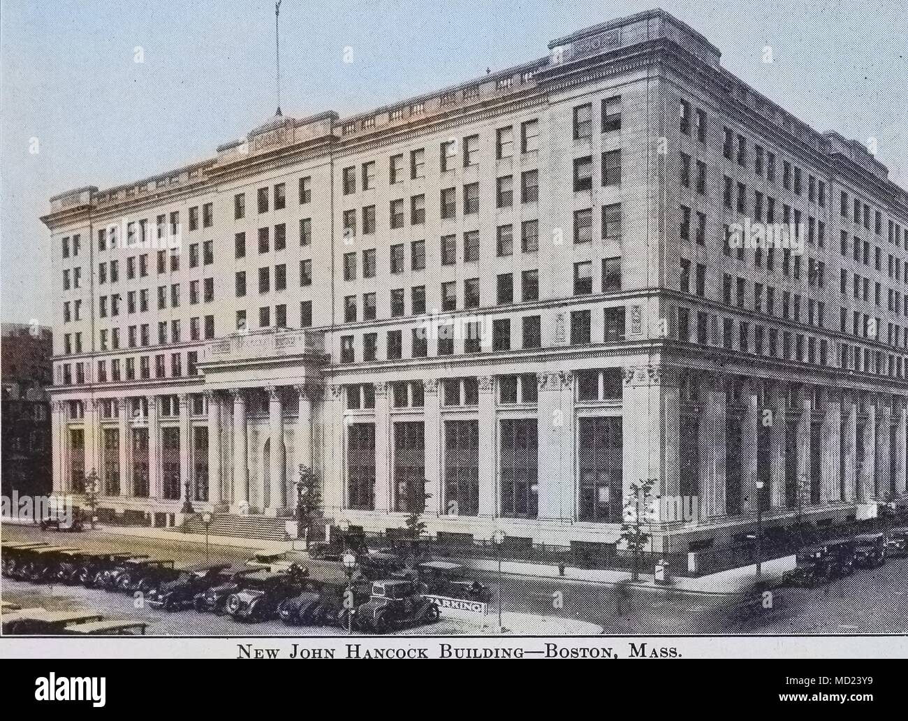 Colorized of building, 1491. Courtesy Internet Archive. () - Stock Image