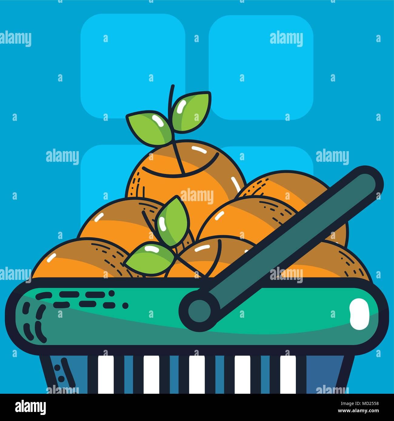 Fresh carrots super market products - Stock Vector