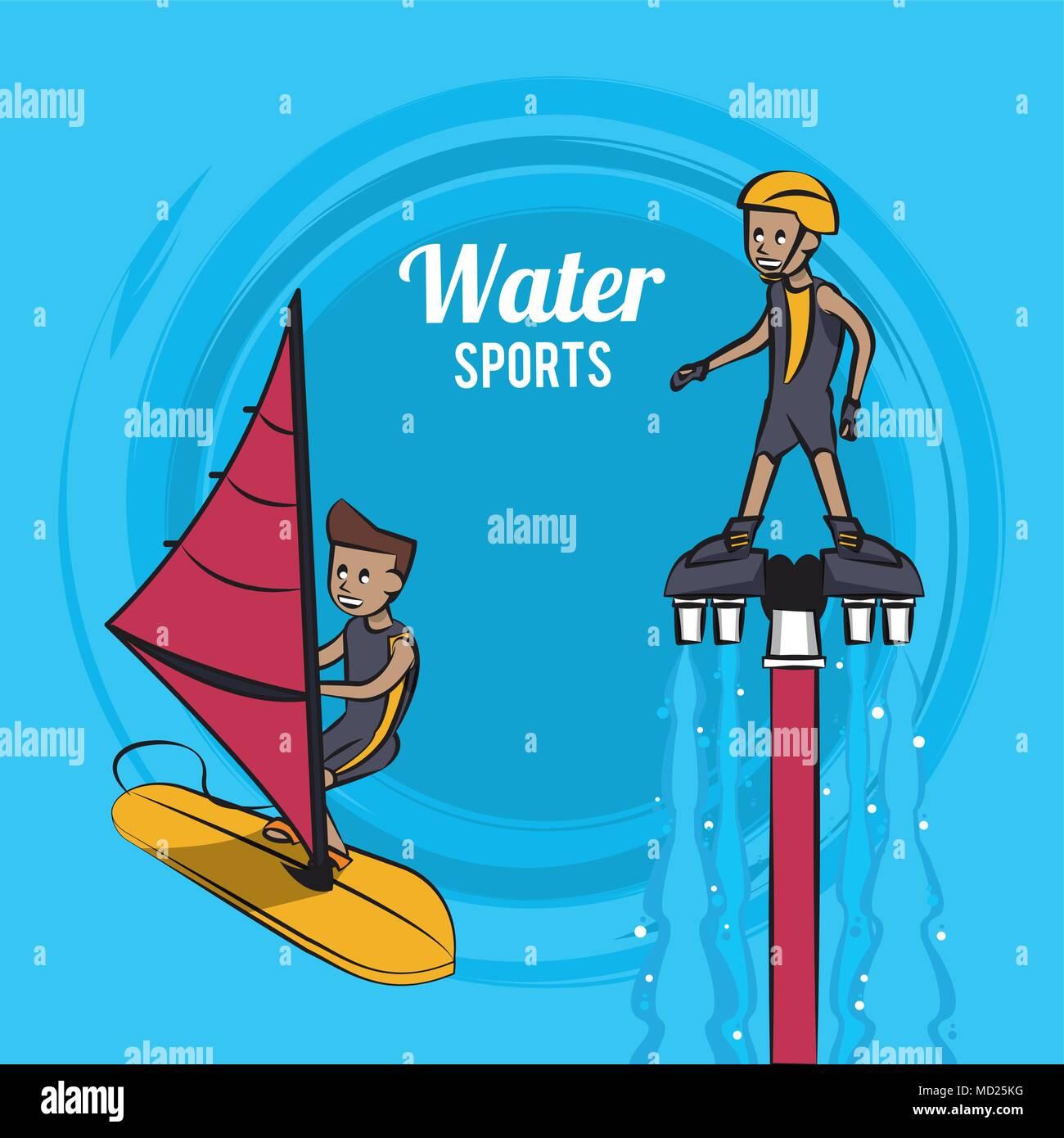 Flysurfing water sport - Stock Image