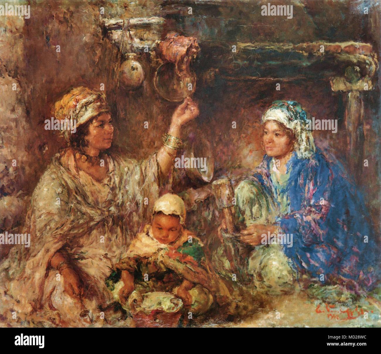 Verschaffelt Edouard - Family Scene Stock Photo  180145096 - Alamy 20a09d79d5f
