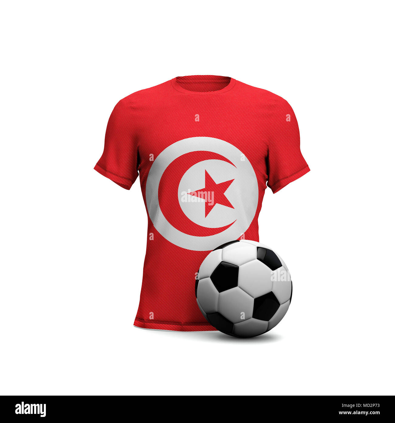 lowest price 634dc e566b Tunisia soccer shirt with national flag and football ball ...