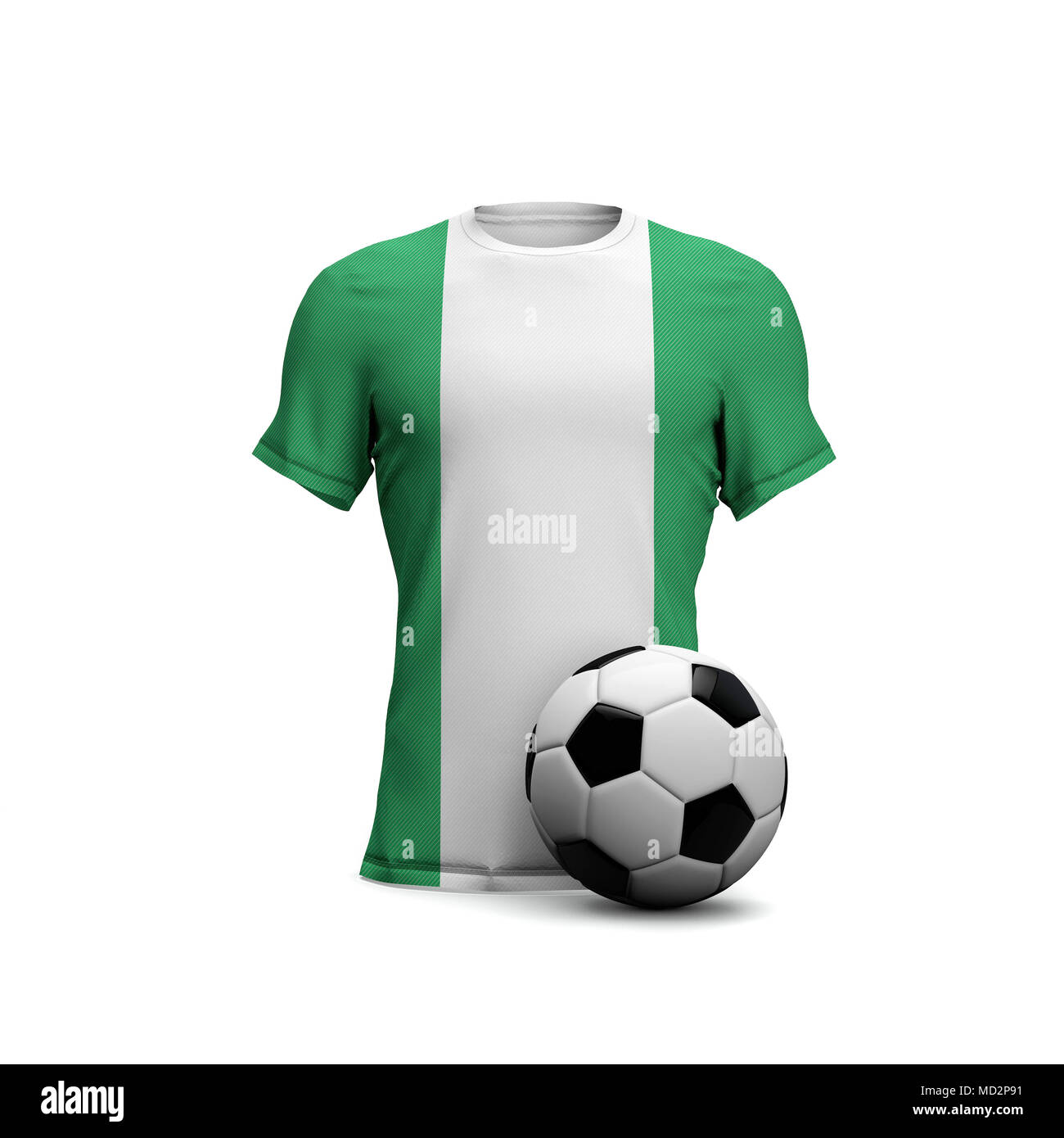 pretty nice 4644d 18dd1 Nigeria soccer shirt with national flag and football ball ...